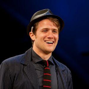 """Lucky Gretzinger as Guildenstern in """"Hamlet"""" (Hudson Valley Shakespeare Festival)"""