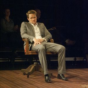 """Lucky Gretzinger as Nick in """"Who's Afraid of Virginia Woolf?"""" (North Carolina Stage)"""